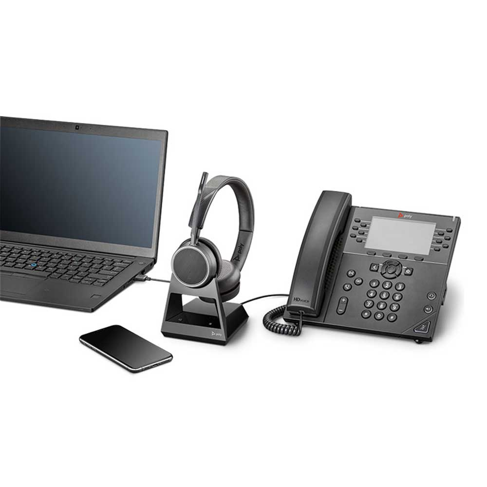 PLANTRONICS VOYAGER 4220 OFFICE, 2-WAY BASE, MS TEAMS