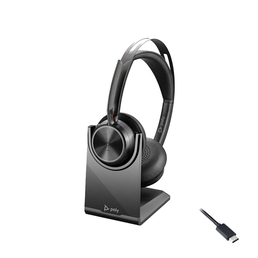 POLY VOYAGER FOCUS 2 UC USB-C CHARGE STAND WIRELESS HEADSET