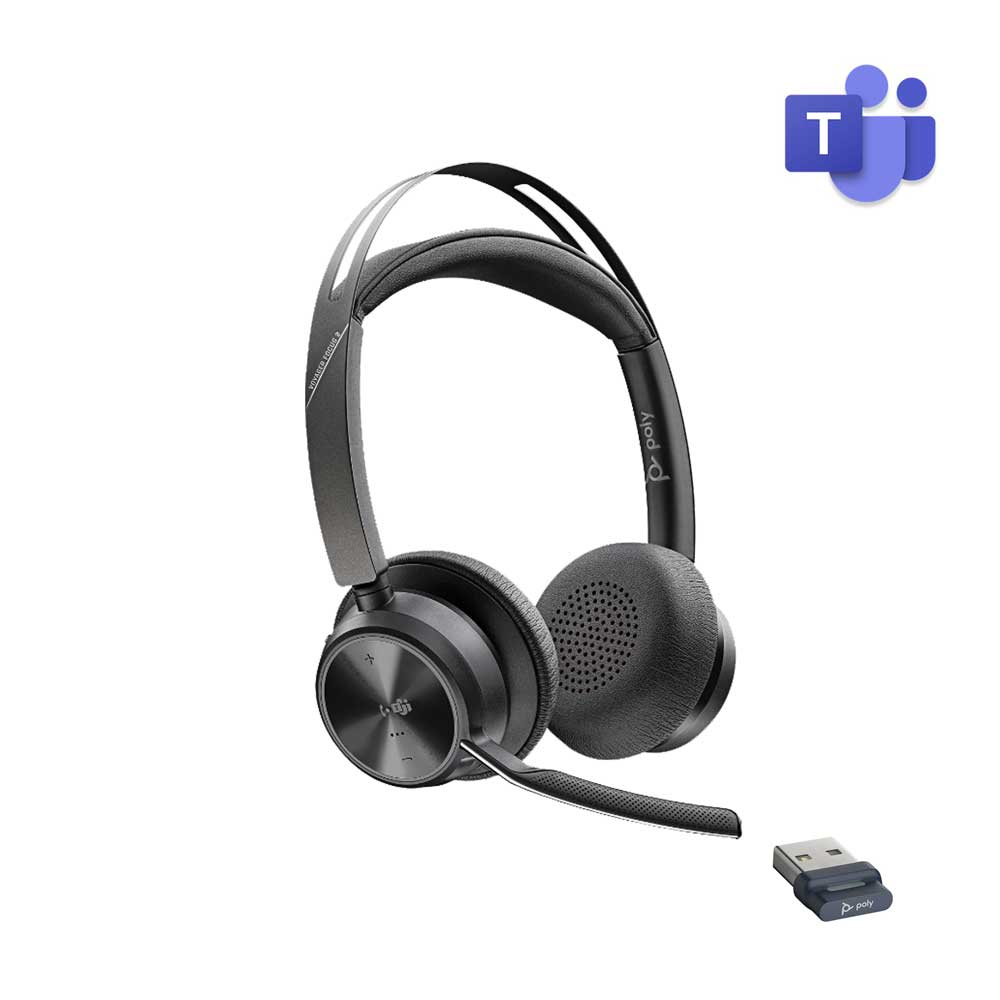 POLY VOYAGER FOCUS 2 UC USB-A WIRELESS HEADSET MICROSOFT CERTIFIED