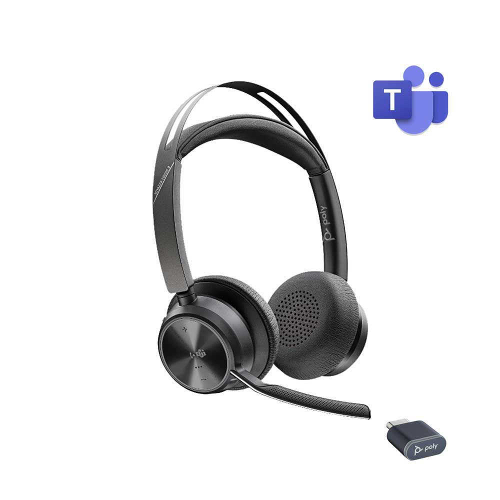 POLY VOYAGER FOCUS 2 UC USB-C WIRELESS HEADSET MICROSOFT CERTIFIED