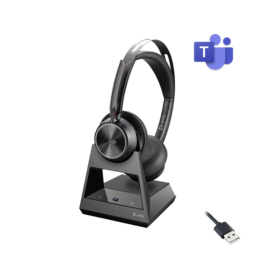 POLY VOYAGER FOCUS 2 OFFICE USB-A WIRELESS HEADSET MICROSOFT CERTIFIED